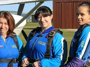 Multiple skydive to honour their mate