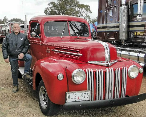 Des O'Dwyer and his '48 Ford.