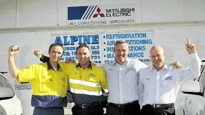 Dan May, Peter Prince, Pat Hopkins and Rob Muller at Alpine Refrigeration.