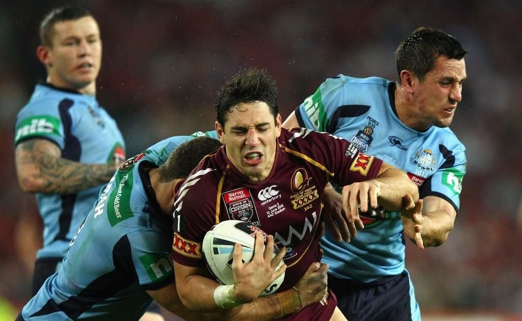 Action from the first half of the second 2012 State of Origin match between Queensland and New South Wales in Sydney.