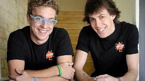 Bounce coffee shop owners Dan Stewart (left) and David Burrett.