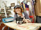 Paddy O'Furniture owner Rachel Glover shows off some of her pre-loved and recycled wares.