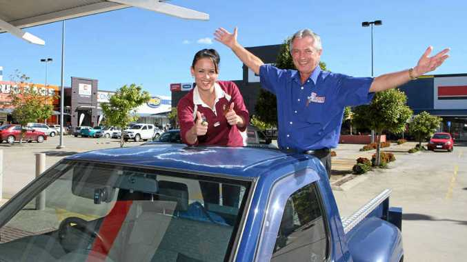 Customer Jo Harvey and The Good Guys Mackay owner John Donnelly are excited about the possibility of expansion at Northpoint Retail Centre.