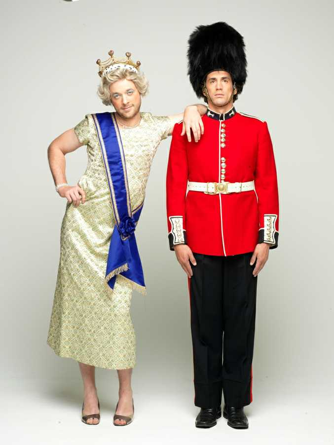 Hamish Blake, left, and Andy Lee star in the new TV series Hamish and Andy's Euro Gap Year.