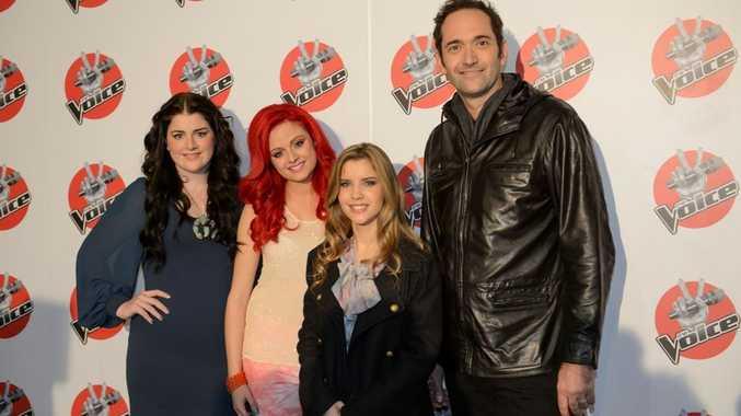 The Voice final four, from left, Karise Eden, Sarah de Bono, Rachael Leahcar and Darren Percival.