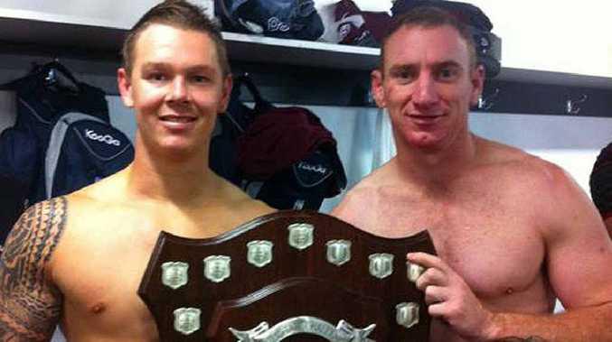 Queensland police players Danny McMah and Scott Donald claim the Origin curtain raiser.