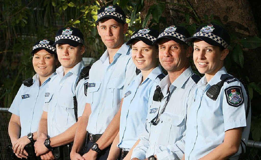 New Ipswich officers Paula Owens, Tonino Trilford, Ben Gilbert, Loren Crowley, Mick Gregory and Louise Peek.