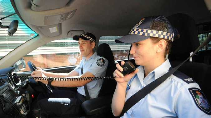 Probationary Constables Andre Stevens and Talitha Favero on their second day on the job in Mackay.