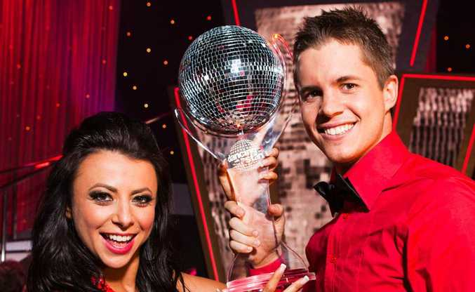 Dancing With The Stars winner Johnny Ruffo and dance partner Luda Kroitor.
