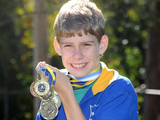 Zach Schultz has won numerous school and zone awards in athletics.