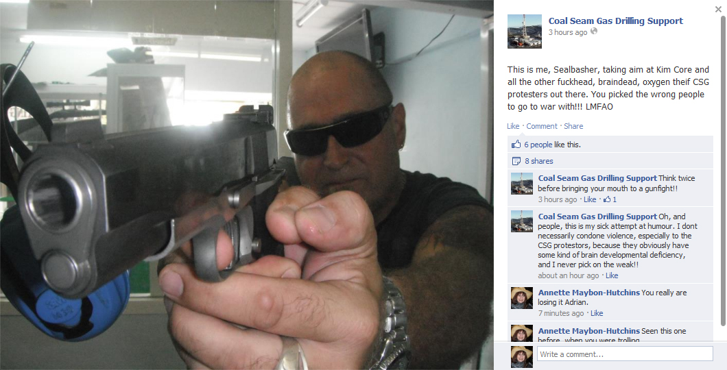 Adrian Nygaard, who also goes by the name Seal Basher post on Facebook.