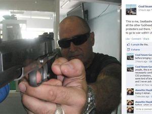 CSG activist's gun threat