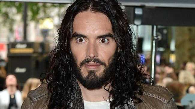 Russell Brand was angered by Katy Perry question.