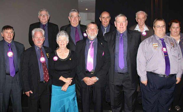 Pictured (back) David Lee, Jeff Barton, Glen Williams, David Crossley, Helen Betts, (front) Tom Shields, Ken Patterson, Elizabeth Shields, Colin Ross, Peter Tobin, Shawn Betts.