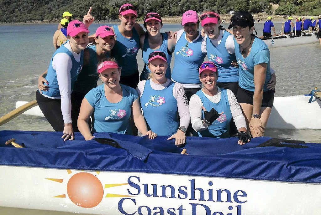 The Mooloolaba's open women's crew claimed victory in the Hamilton Island Cup 42km marathon race.