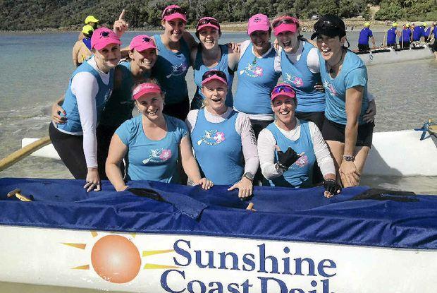 The Mooloolaba's open women's crew claimed victory in the Hamilton Island Cup 42km marathon race.
