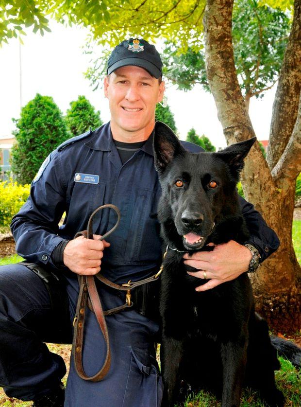 Senior Constable Glen Ayoub and Ribot.