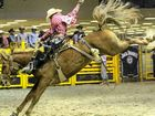 Rhys Angland on the way to victory in the APRA Jupiters National Finals Rodeo at the Gold Coast.