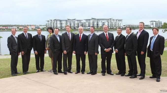 Sunshine Coast Mayor Mark Jamieson with his fellow councillors.