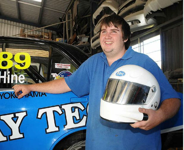Shayne Hine says he's enjoying the learning process that comes with his new car-racing passion.
