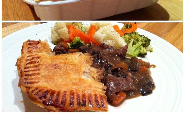 Miss Foodie's steak, rosemary and mushroom pie.