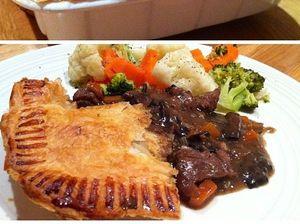Steak, Rosemary and Mushroom Pie