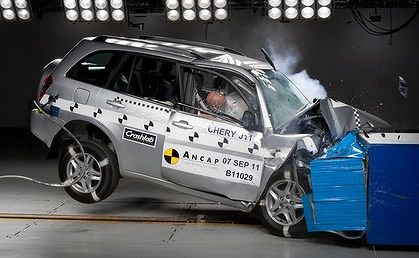 The Chery J11 scored just two stars out of five in the ANCAP tests.