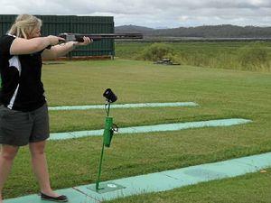 Megan on target at shooting club