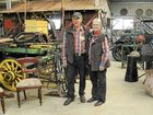 Don and Dorothy Enders show off their Lanbruk's Gunyah museum yesterday. The couple sell their produce weekly at the Grafton Farmers' Market.
