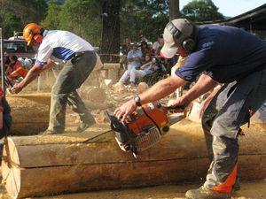 Village sharpens up for timber fest