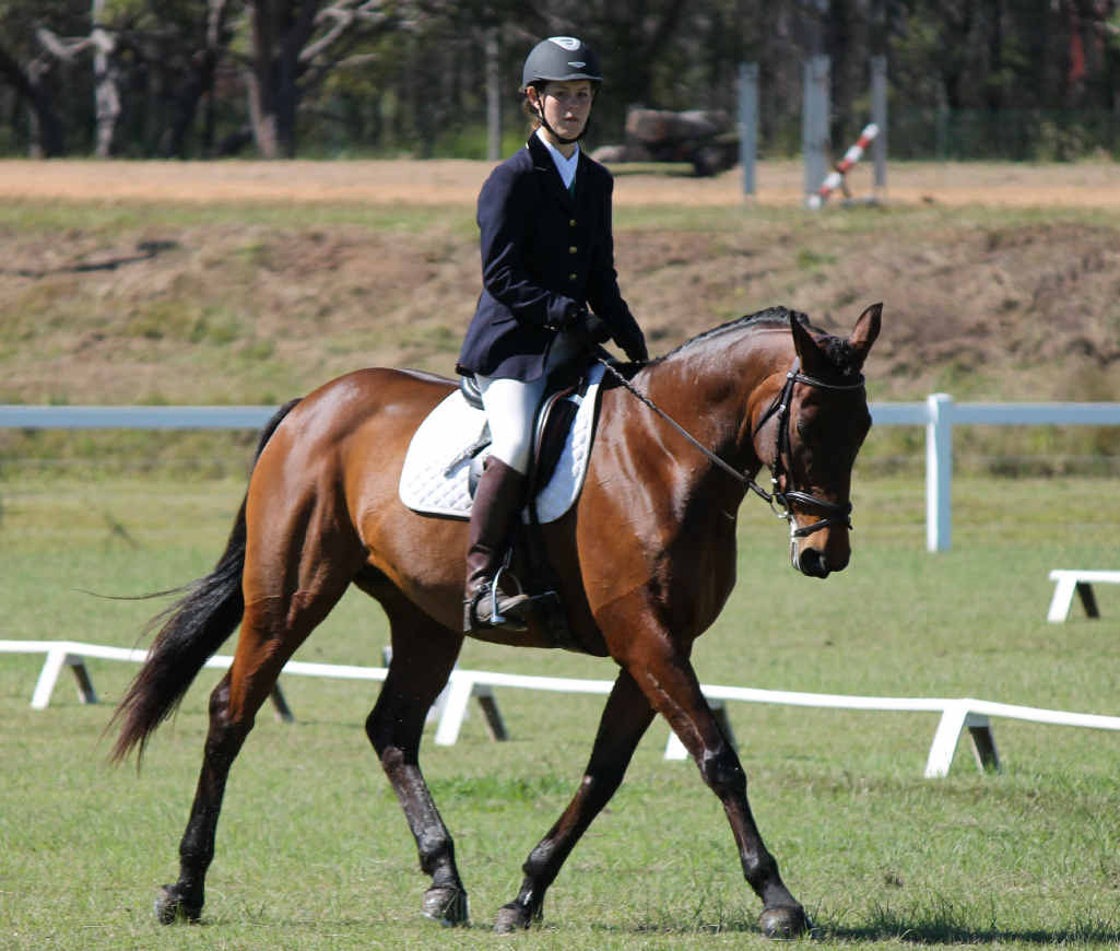 Madison Hose, on Sassifrass, will contest three disciplines at tomorrow's Interschool Queensland State Championships at Maryborough Park.