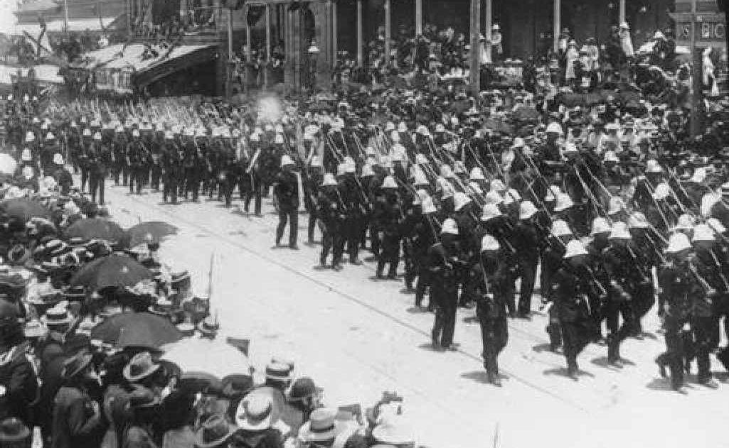 Queensland Boer veterans march through Brisbane in 1901. Photos: Picture Queensland/Contributed