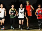 My Run Club athletes preparing for Gold Coast marathon events this weekend include (from left) Terry Verhaar, Nicole Preston, Matt Casos, Paul Shard and Adam MacKenzie.