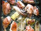 Chicken braised with tarragon, witlof and leeks