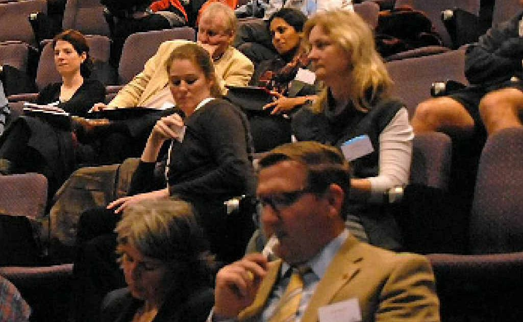 Delegates at a conference.