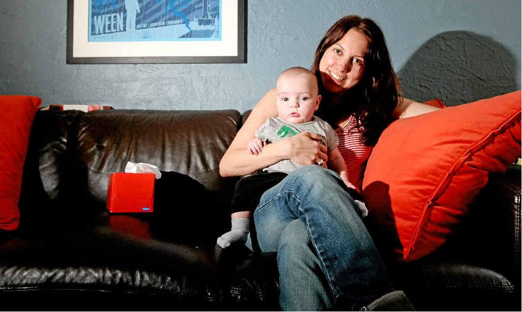 Nicole Huber and baby boy Wiley.