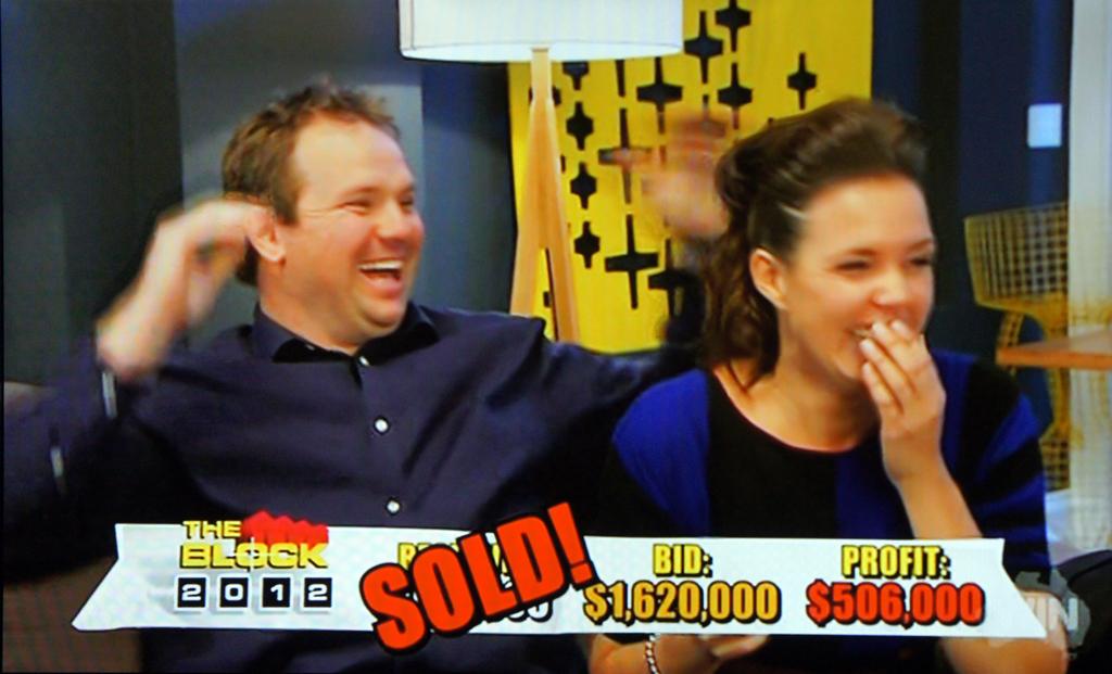 Brad Cranfield and Lara Welham have won The Block 2012.