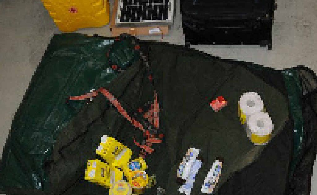 Some of the equipment Stenberg took to allow him to survive an extended period in the bush.