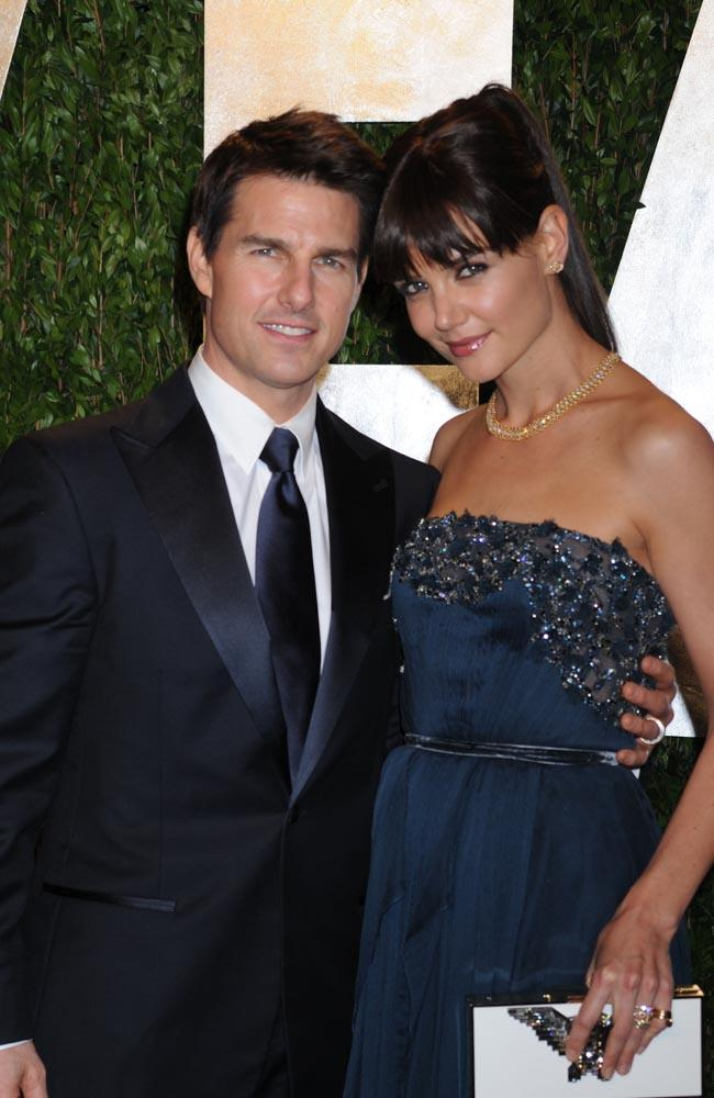 Tom Cruise and Katie Holmes during happier times.