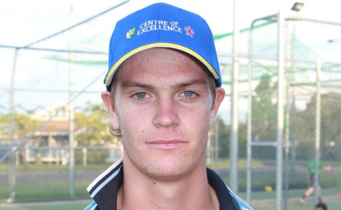 NATIONAL PLAYER: Australian under-19 paceman Mark Steketee. Photo Gerard Walsh / Warwick Daily News