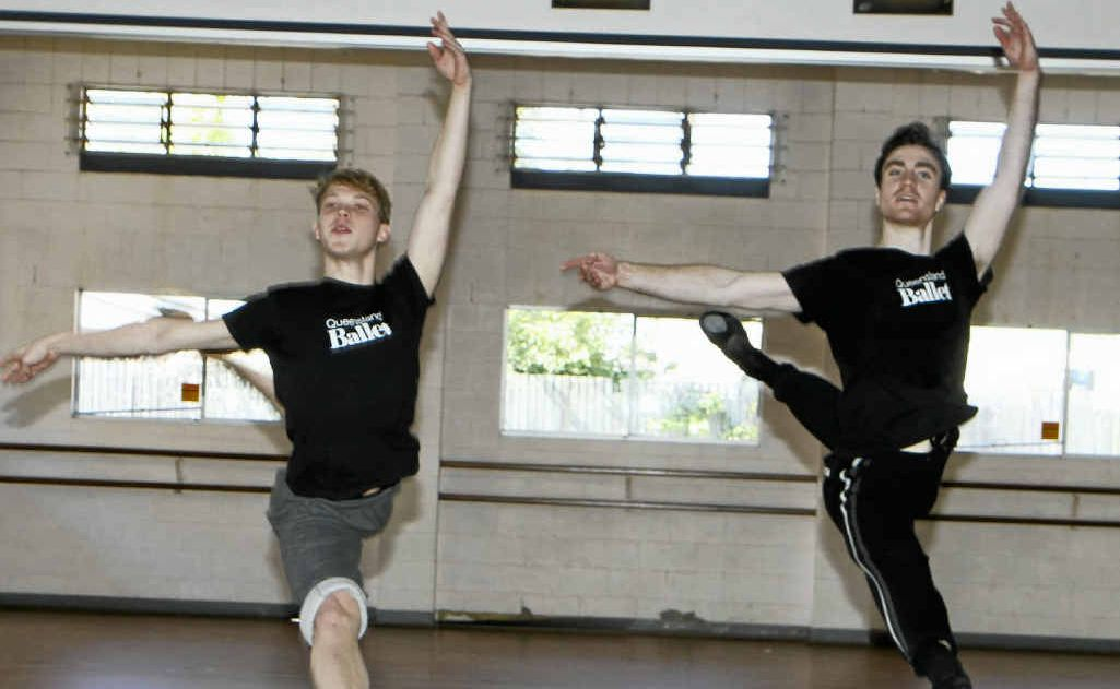 Rian Thompson and Piran Scott are both from Mackay and perform with the Queensland Ballet.
