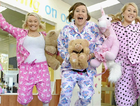 Bank of Queensland staff Brooklyn Prickett, Clair Bugler and Jacqui Geaney don their pyjamas and encourage everyone to jump in and help raise money for the Children's Hospital Foundation Australia.