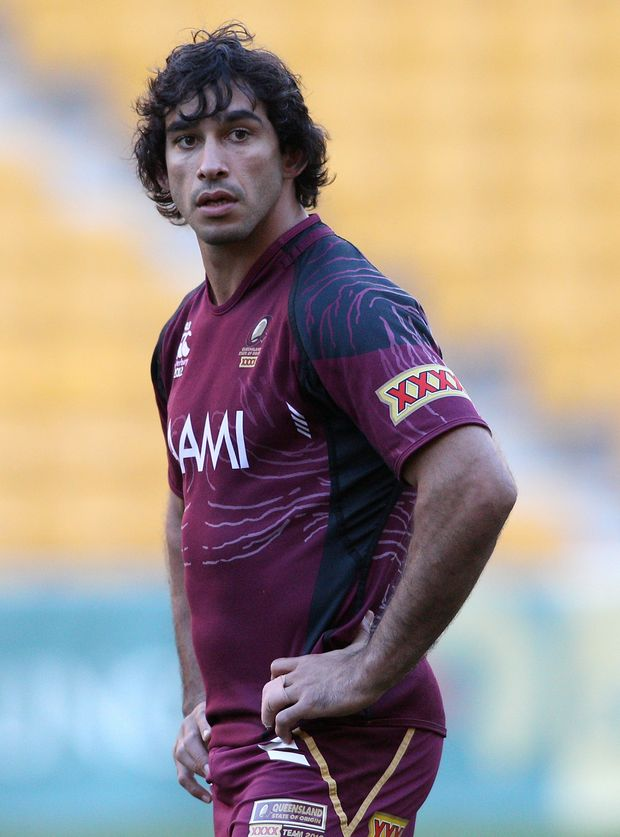Johnathan Thurston during a Queensland Maroons State of Origin training session at Suncorp Stadium on July 3 in Brisbane.