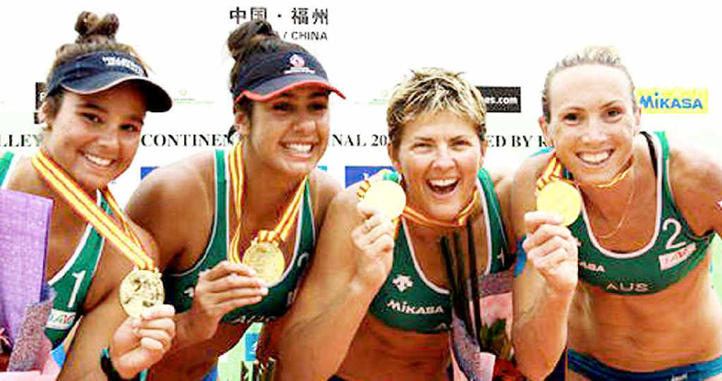 Kingaroy's Taliqua Clancy won a gold medal as part of the victorious Australian beach volleyball team at the recent AVC Continental Cup in China.