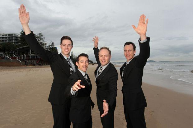 Jersey Boys (L to R) Declan Egan, Dion Bilios, Anthony Harkin and Glaston Toft.