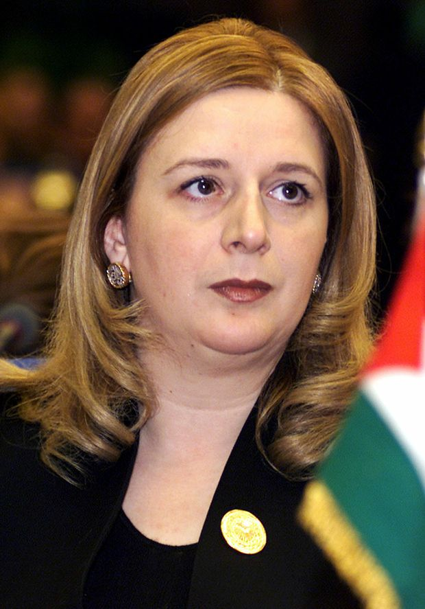 Suha Arafat, the widow of former Palestinian leader Yasser Arafat.