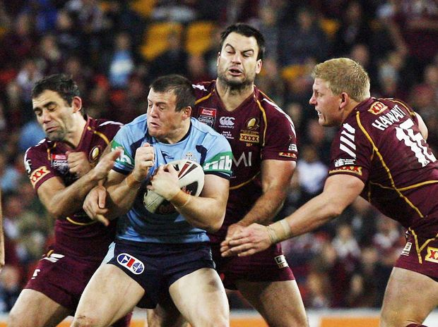 Action from last year's State of Origin series.