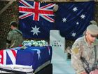 Soldiers from Special Operations Task Group, as well as Australians from other Units in Tarin Kot, and Afghan and coalition forces personnel, lined the route and saluted as the casket carrying their warrior brother passed by to begin the journey home to Australia.