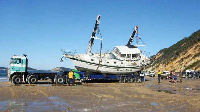 A multi-million dollar salvage effort won out over the elements yesterday as time and tide turned against rescuers.