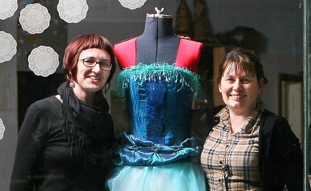 Rebecca Lewis, from Cultiver will host the Upcycled Wedding Dress Competition. Here is an entry that Cassie Booth (right) has created.